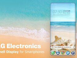 LG работи върху дисплей, който обгръща телефона?