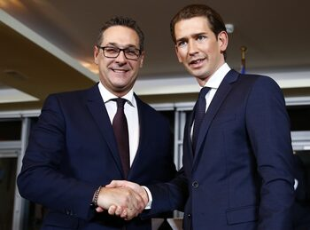 Крайната десница в Австрия ще управлява отбраната, вътрешните и външните работи