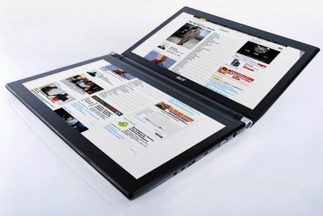 Очаква се и първият ноутбук с два дисплея от Acer - Iconia