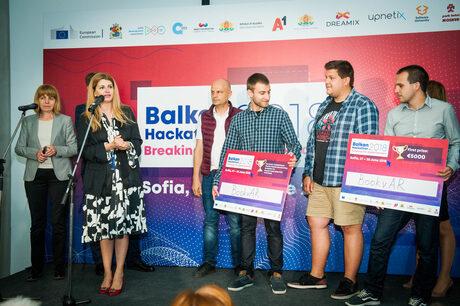 Българският отбор BookvAR спечели първия Балкански хакатон