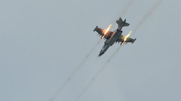 """Су-25 по време на учението Saber Guardian 2017 на полигон """"Ново село"""""""