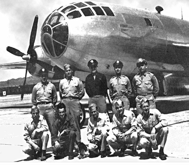 Екипажът, пуснал атомната бомба Fat Man над Нагасаки