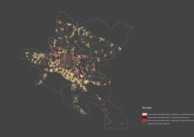 Карта на незастроените имоти, предвидени за жилища в ОУП, на територията на Столична община