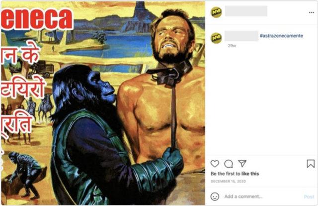 Част от акцията срещу AstraZeneca и в Instagram