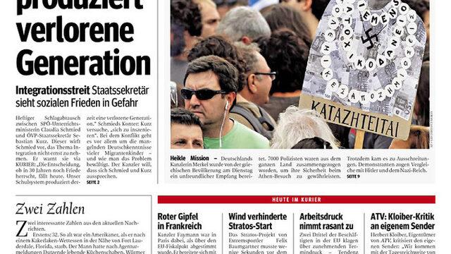 """Kurier (Австрия): """"Гръцки гняв"""""""
