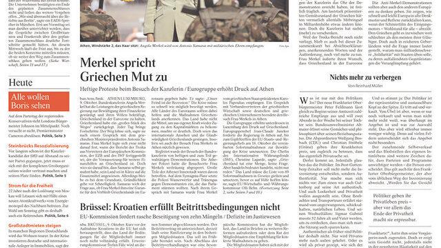 "Frankfurter Allgemeine: ""Меркел вдъхва смелост на гърците"""