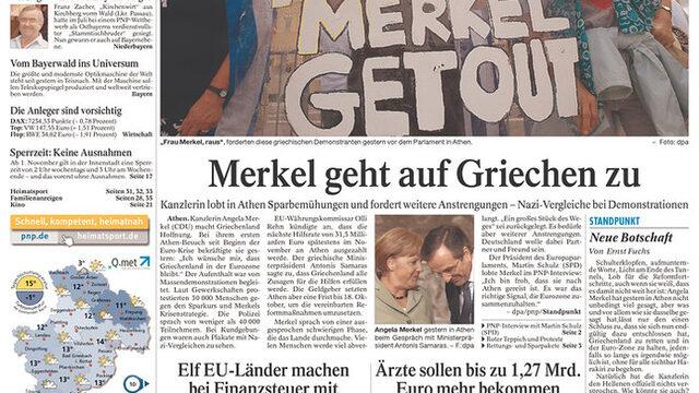 "Passauer Neue Presse: ""Меркел близо до гърците"""