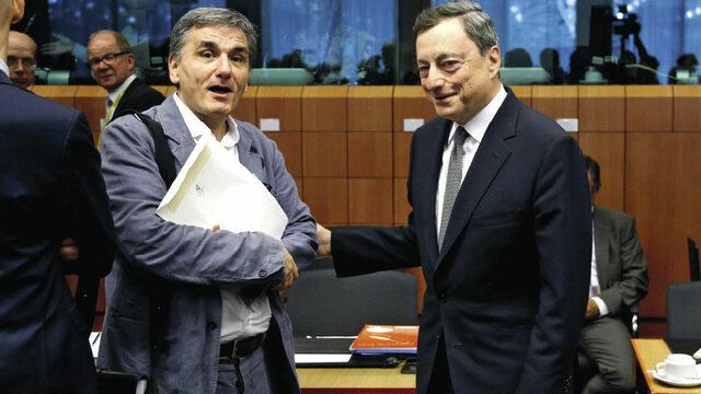 Маратонското заседание на финансовите министри от еврозоната в понеделник приключи без споразумение за гръцкия дълг и без да бъде отворен пътят за отпускане на Атина на транш от 7 млрд. евро. Според гръцкия финансов министър Евклидис Цакалотос (вляво) е нужно още време.
