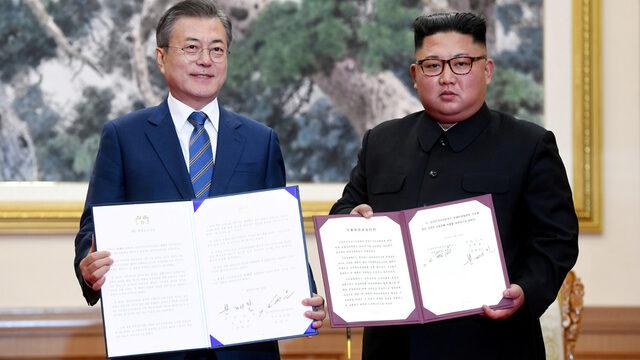 Лидерите на Северна и Южна Корея – Ким Чен Ун и Мун Дже Ин, се разбраха за демонтирането на севернокорейски ракетни съоръжения. КНДР ще затвори и ядрения си реактор в Йонбьон, но при неуточнени реципрочни действия на САЩ
