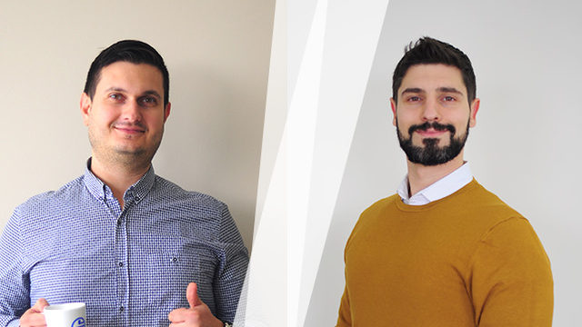 Любомир Атанасов (отляво) и Петър Дяксов, собственици на Seomax