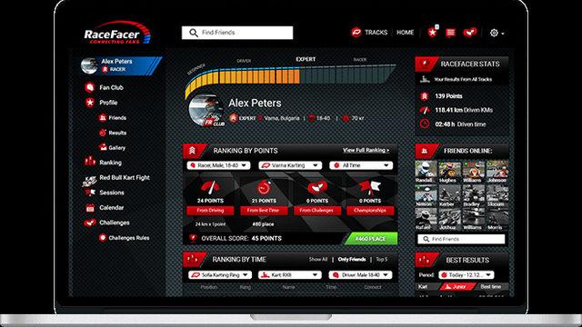 RaceFacer управлява всички процеси в дейността на една картинг писта
