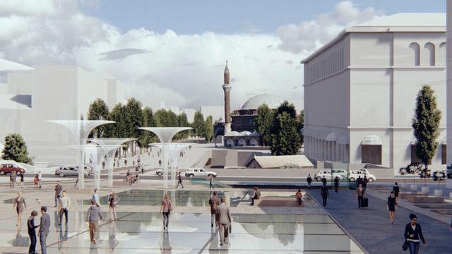"""Предвидена е нова пешеходна и озеленена зона, която ще стига до джамията """"Баня Баши"""""""