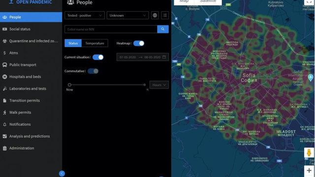 Скрийншот от Open pandemic с примерна, недействителна информация