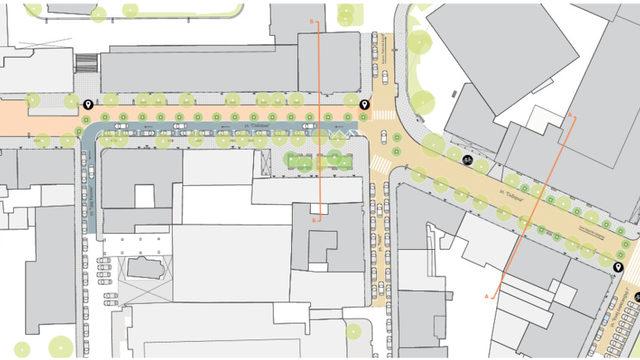 """Проектът за пешеходна """"Съборна"""""""