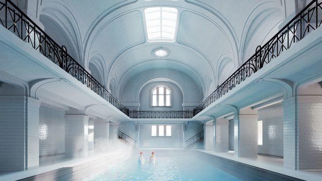 """Методът """"изявена реставрация"""" е приложен в бившия мъжки басейн"""