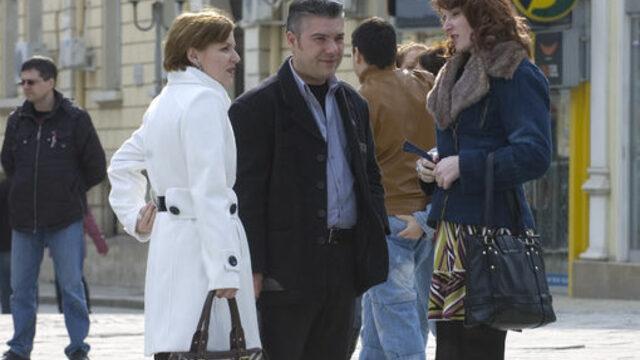 Румънци на неделна разходка в Русе - все по-рядка гледка<br />
