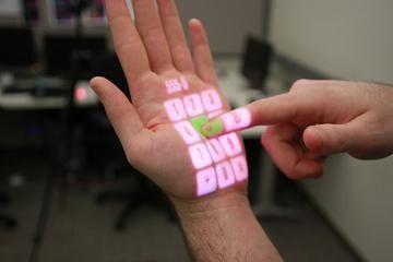 OmniTouch превръща всяка повърхност в сензорен екран