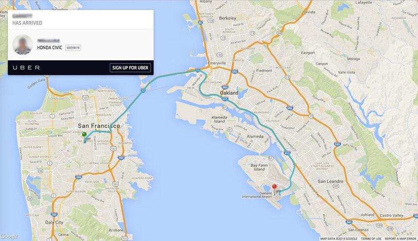 Данни за пътувания с Uber се появиха през търсачката на Google