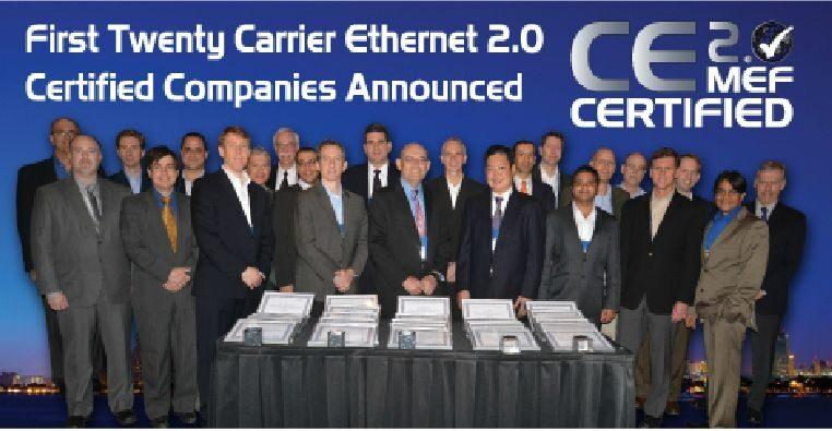 20 компании получиха сертификати за Carrier Ethernet 2.0