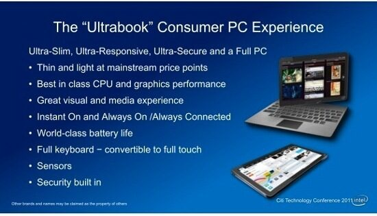 Intel: бъдещите ултрабуци ще приличат повече на таблети