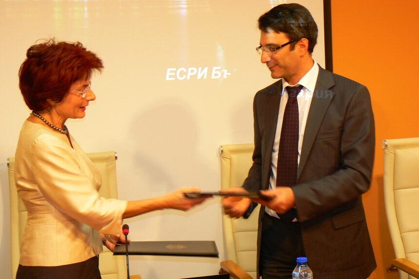 ESRI Inc. дари софтуер за управление на извънредните ситуации за 100 хил. лв. на МИЕТ
